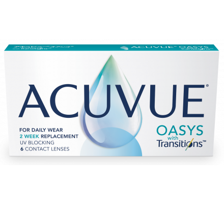 Lentilles JOHNSON VISION CARE Acuvue Oasys With Transitions