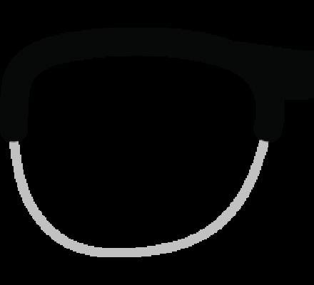 Lunettes de vue Montage sur votre monture demi-cerclée