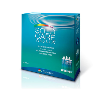 Produit pour lentilles MENICON SOLOCARE AQUA 3X360ML