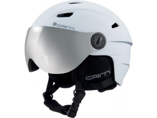 Casque de ski mixte CAIRN Blanc ELECTRON VISOR PCHROM 59/60