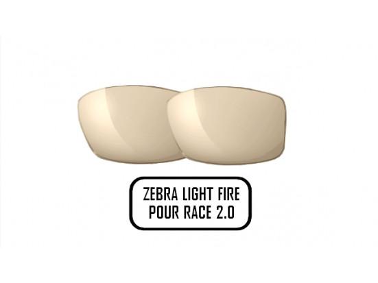 Lunettes de soleil pour homme JULBO Noir Verres ZEBRA LIGHT FIRE pour monture Julbo RACE 2.0
