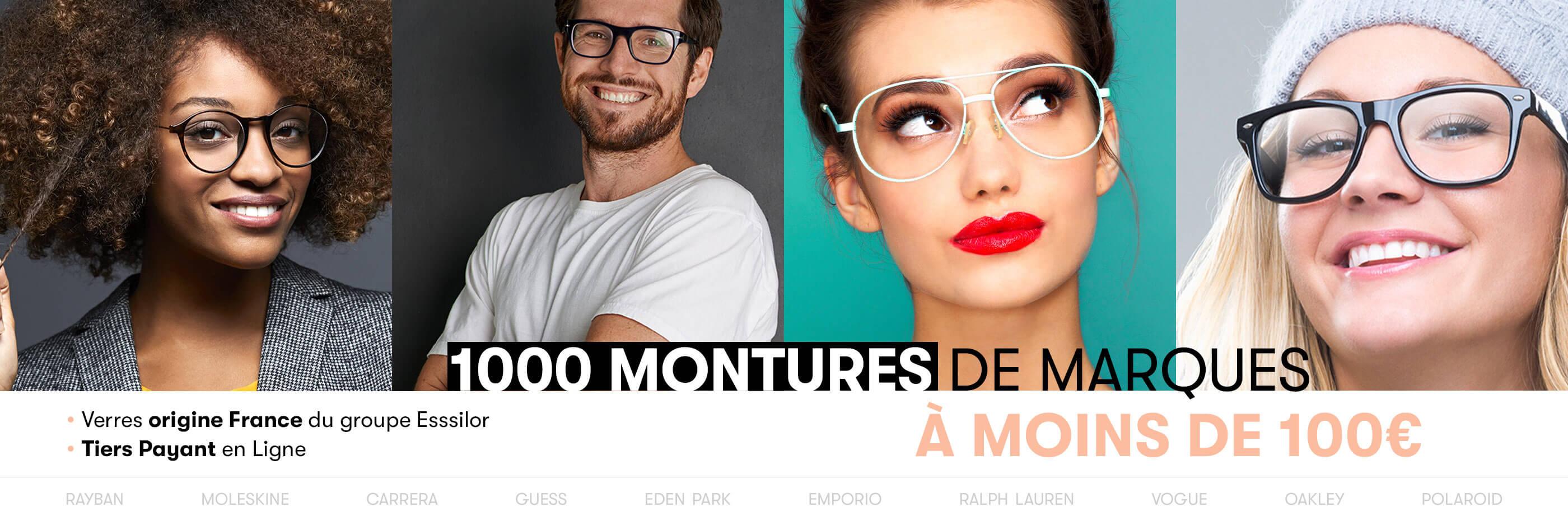 1000 montures de marque à moins de 100 €